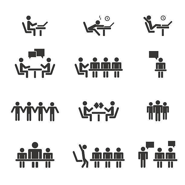 Management Management, human resources, business persons and users  Vector icons set animal attribute stock illustrations