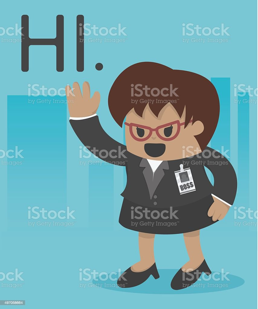 Manager business woman Illustration vector art illustration