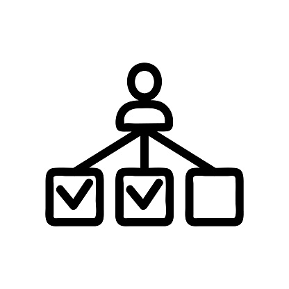 Manager choice icon vector. Isolated contour symbol illustration