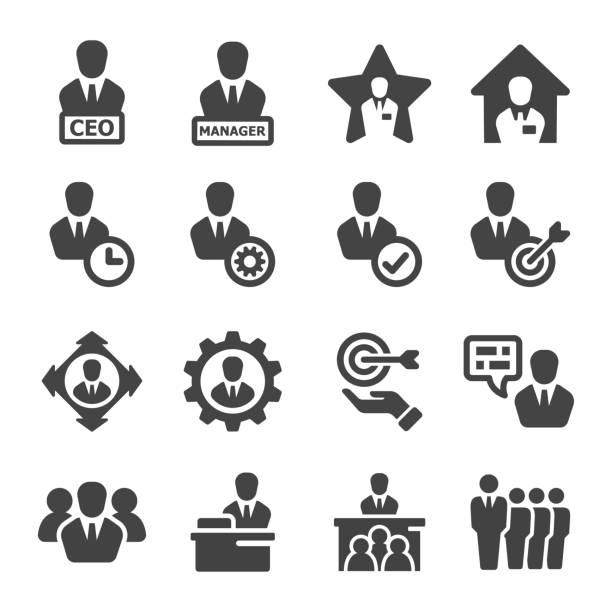 ilustrações, clipart, desenhos animados e ícones de ícone do gerenciador - ceo
