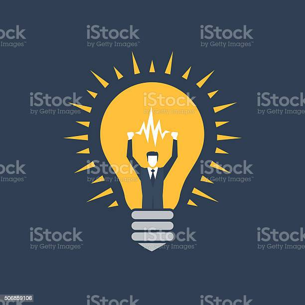 Manager Idea Bulb Stock Illustration - Download Image Now