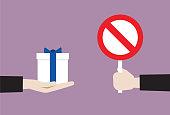 'No' Symbol, Accessibility, Adult, Bribing