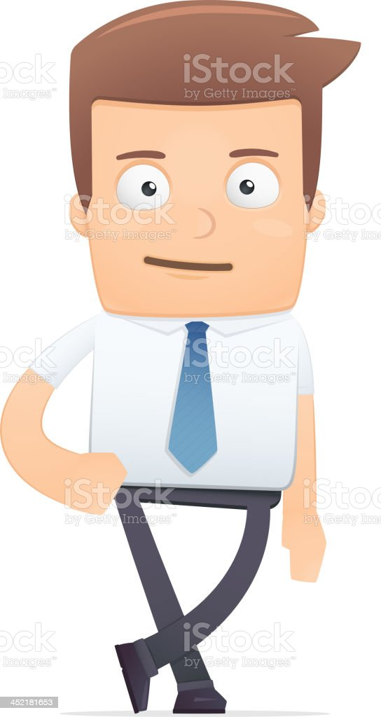 manager, suitable for use in dialogs with other characters. royalty-free stock vector art