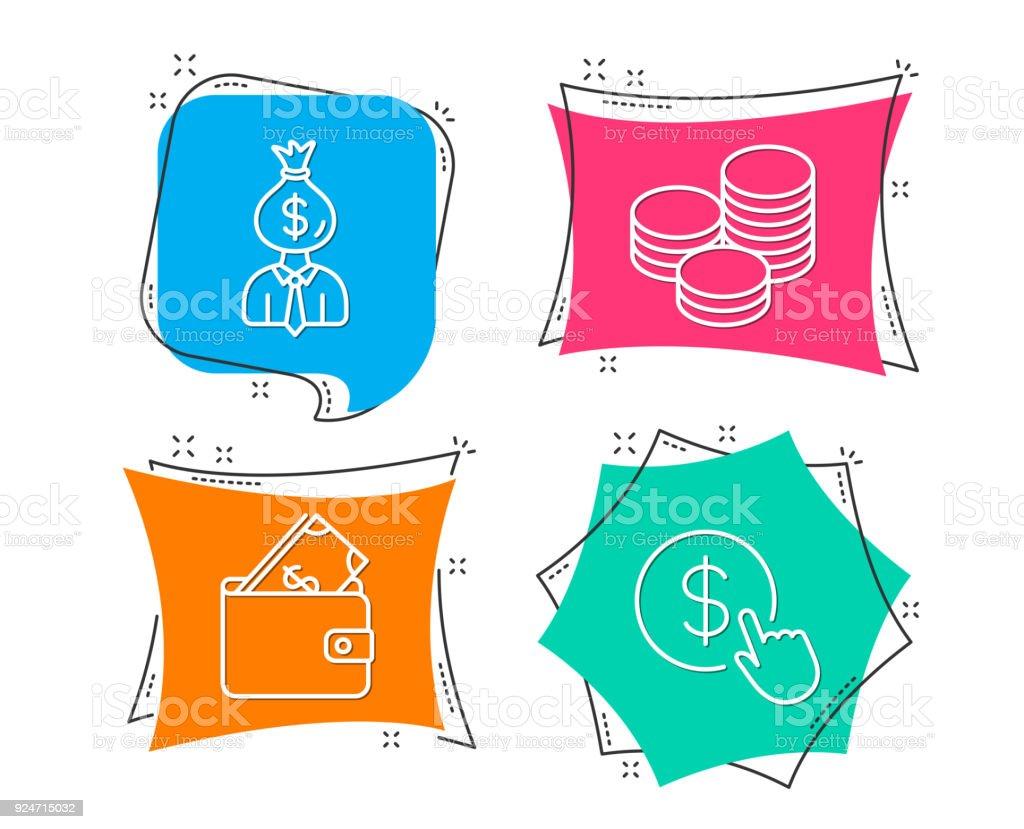 Symbole Für Manager Brieftasche Und Tipps Währungszeichen Zu Kaufen ...