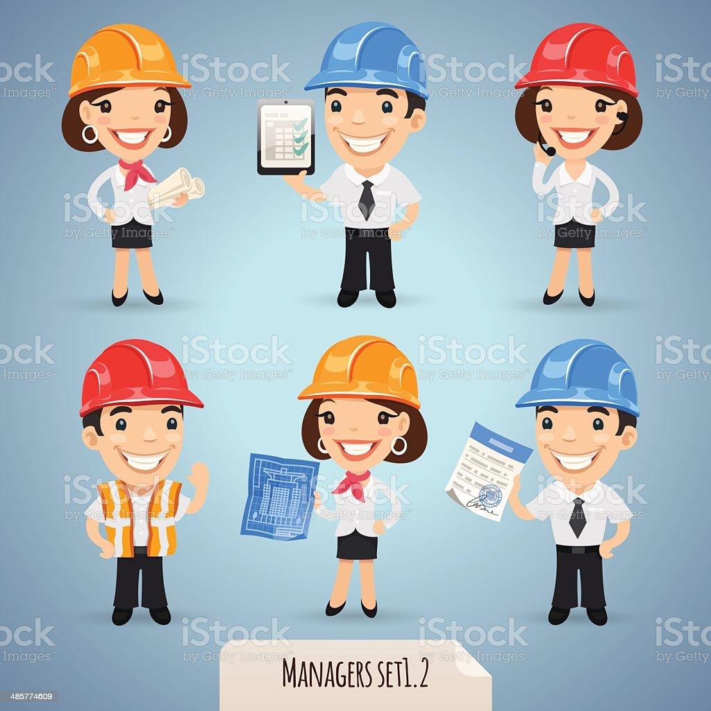 Managers Cartoon Characters Set1.2 vector art illustration
