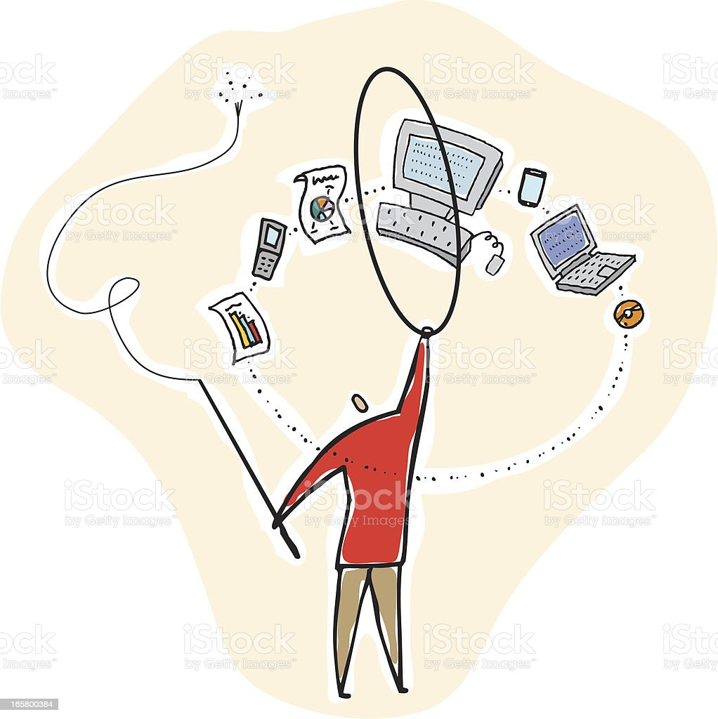 Managing Technology royalty-free managing technology stock vector art & more images of achievement