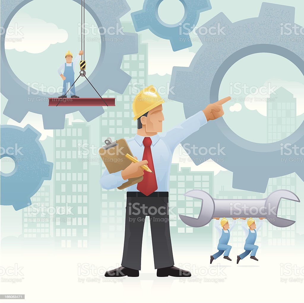 Managing work concept royalty-free stock vector art