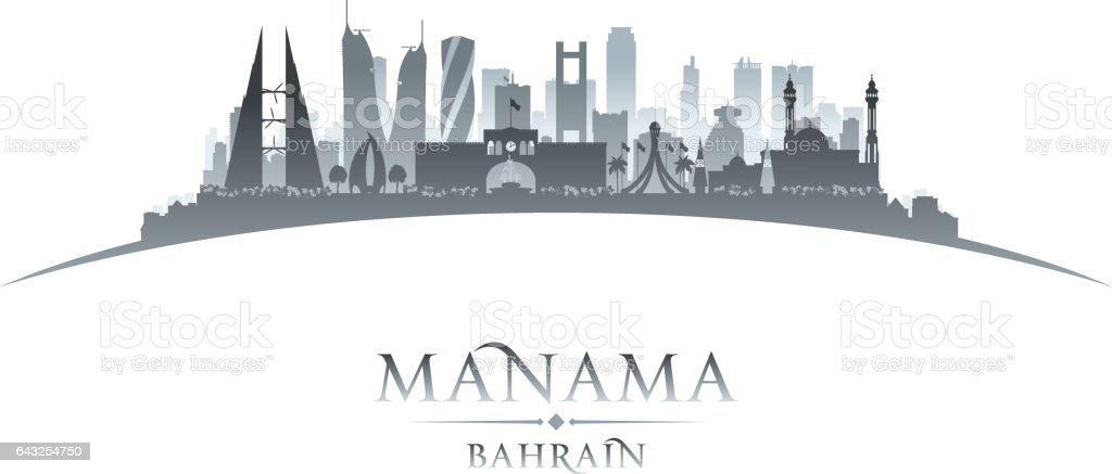 Manama Bahrain city skyline silhouette vector art illustration