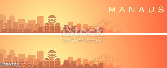 Manaus Beautiful Skyline Scenery Banner