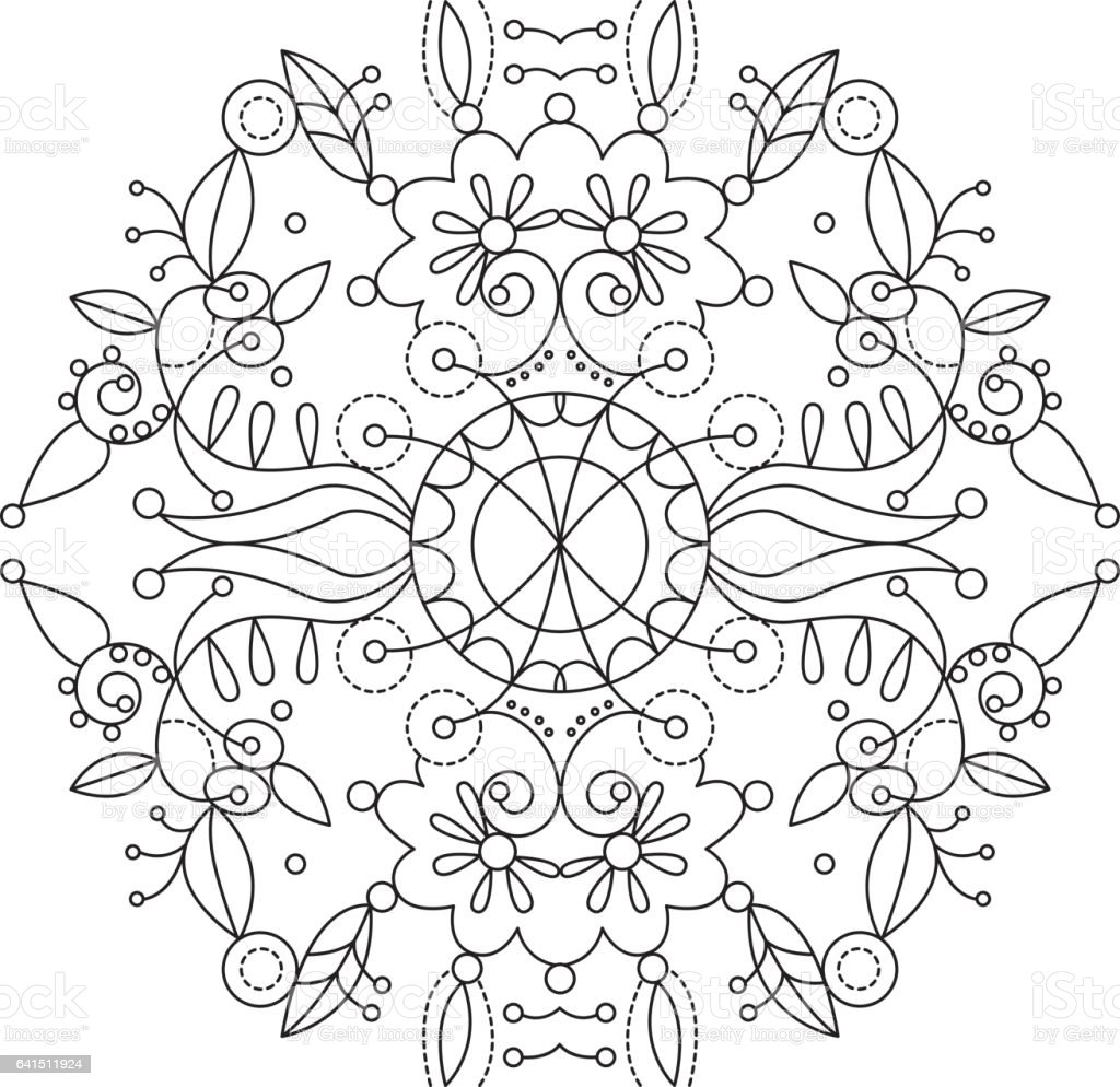 Mandala 16 vector art illustration