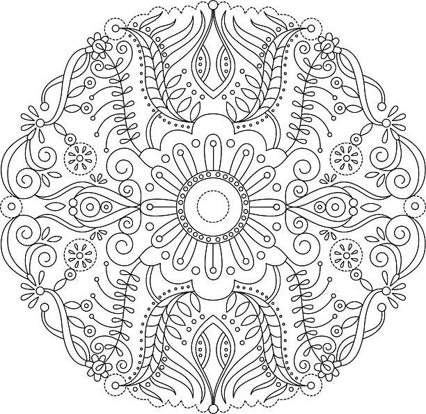 Mandala 2 vector art illustration