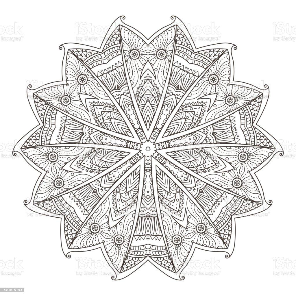 Mandala Abstrakten Dekorativen Hintergrund Islam Arabisch
