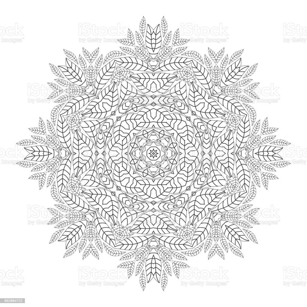 Mandala Antistress Boyama Sayfalari Yetiskinler Icin Tek Renkli
