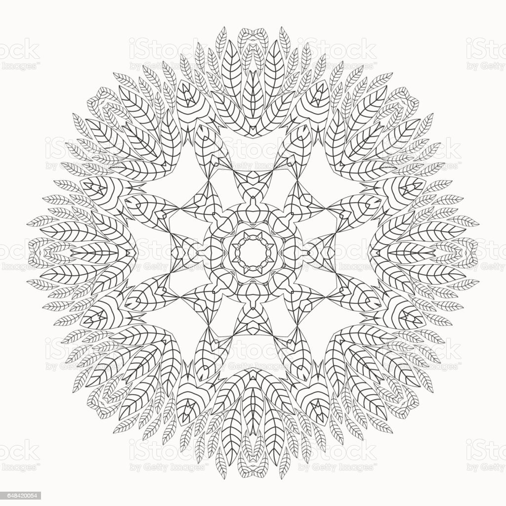 Mandala Antistress Coloring Pages For Adults Stock ...