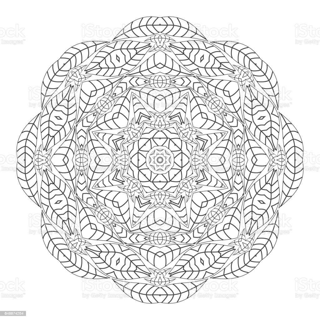 Anti stress colouring pages for adults - Antistress Coloring Pages For Adults Royalty Free Stock Vector Art