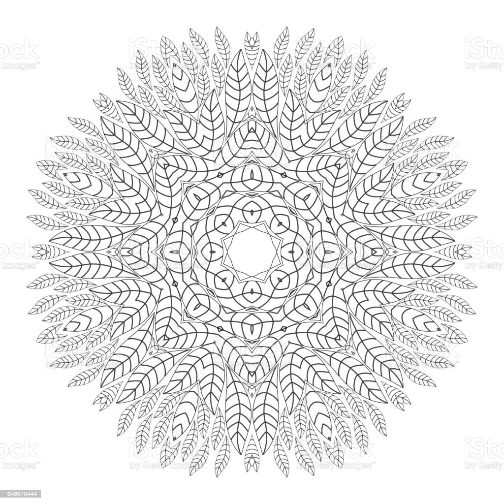 - Mandala Antistress Coloring Pages For Adults Stock Illustration