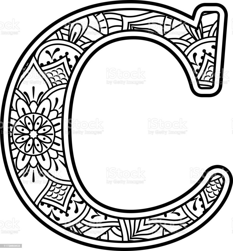 mandala lettre c