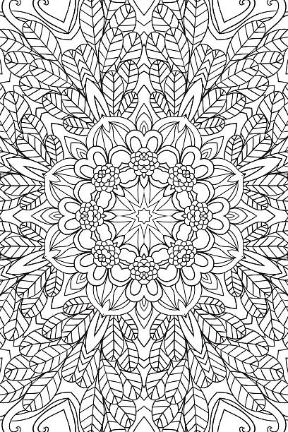 mandala background. ethnic decorative elements. hand drawn . coloringg book for - coloring book pages templates stock illustrations