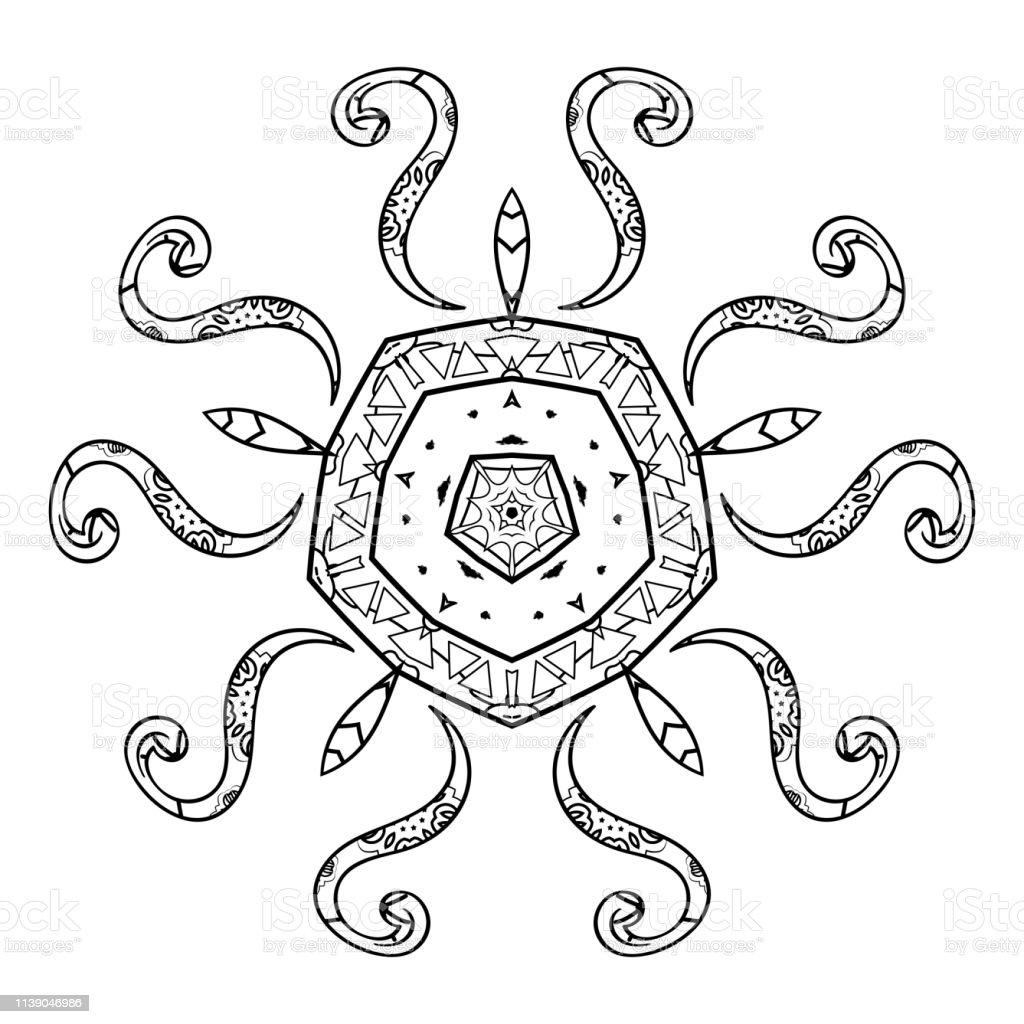 Verrassend Mandala Zwart En Wit Oosterse Patroon Kleuren Voor Volwassenen KT-95