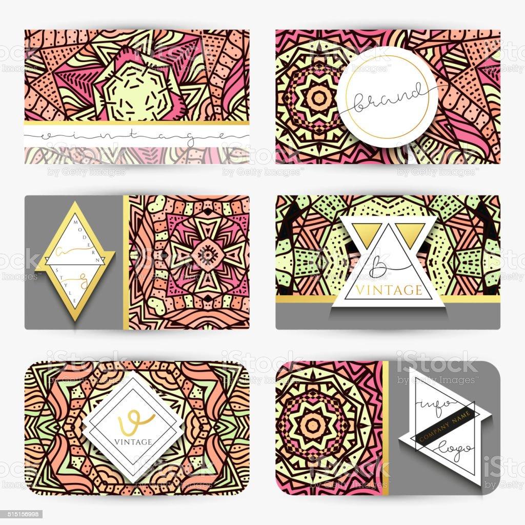 Mandala Business Carta Con Decorazione A Mano In Colori Retro Immagini Vettoriali Stock E Altre Immagini Di Affari Istock