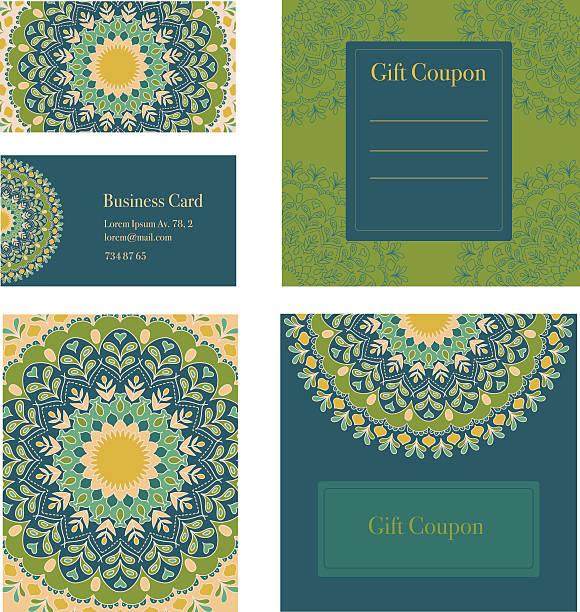 ilustrações, clipart, desenhos animados e ícones de mandala trabalho conjunto. cartões de convite, cupom, oferta, cupom de presente. - fontes de tatuagem