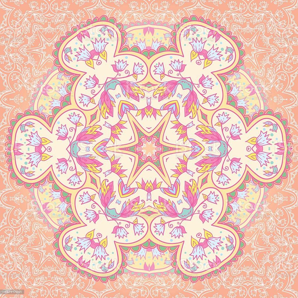 Mandala circle arabesque fond - Illustration vectorielle