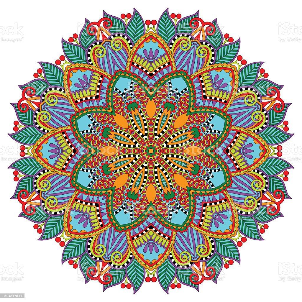 Mandala Circle Decorative Spiritual Indian Symbol Of Lotus Royalty Free