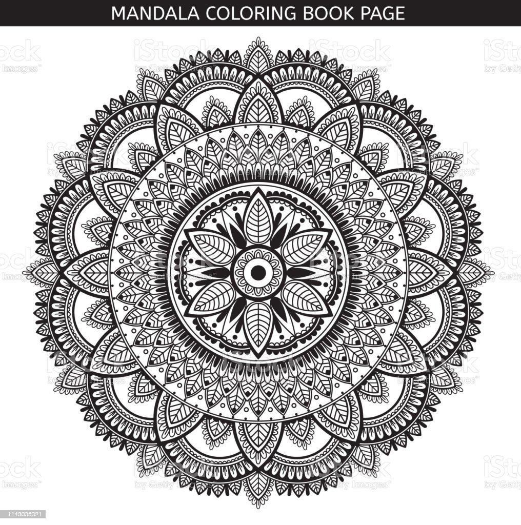 Coloriage Anti Stress Indien.Mandala Page De Livre De Coloriage Medaillon Indien