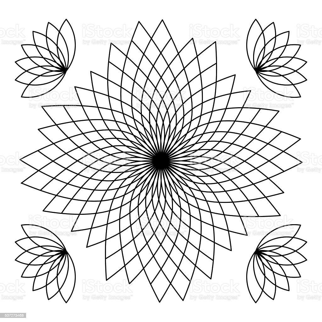 Mandala Libro Para Colorear - Arte vectorial de stock y más imágenes ...