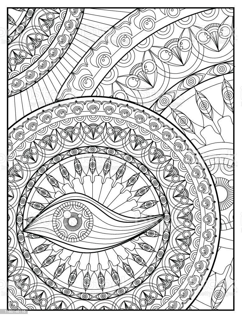 mandala kleurplaat pagina voor volwassen ontspanning
