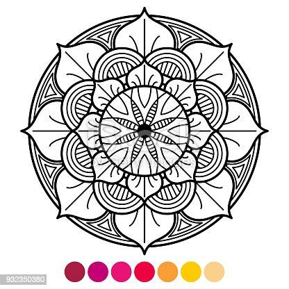 Ilustración de Página Para Colorear De Mandala Para Adultos ...