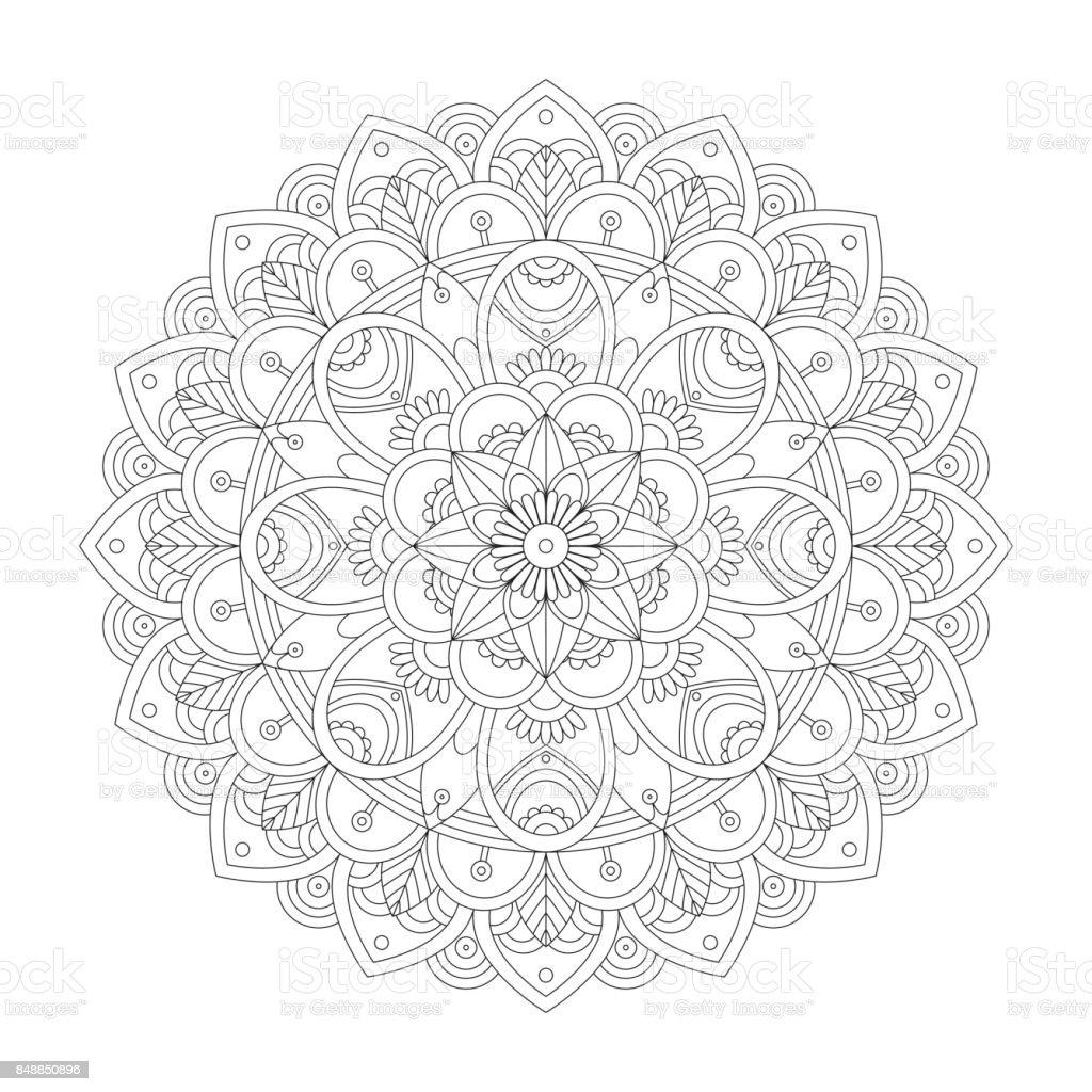 mandala malvorlagen für erwachsene stock vektor art und