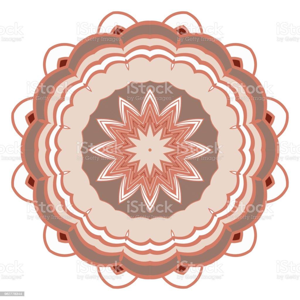 mandala. creative anti-stress floral ornament. vector illustration - arte vettoriale royalty-free di Adulto