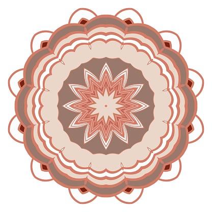 Mandala Creative Antistress Floral Ornament Vector Illustration - Immagini vettoriali stock e altre immagini di Adulto