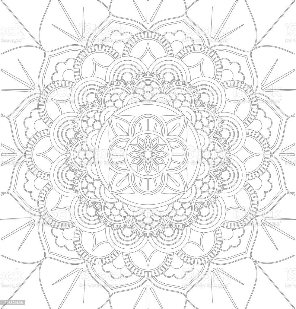 Mandala decorative ornament design vector art illustration
