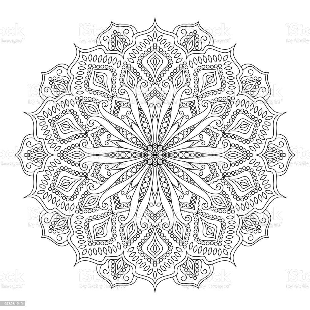 Livre De Coloriage Mandala Design Element Cliparts Vectoriels Et