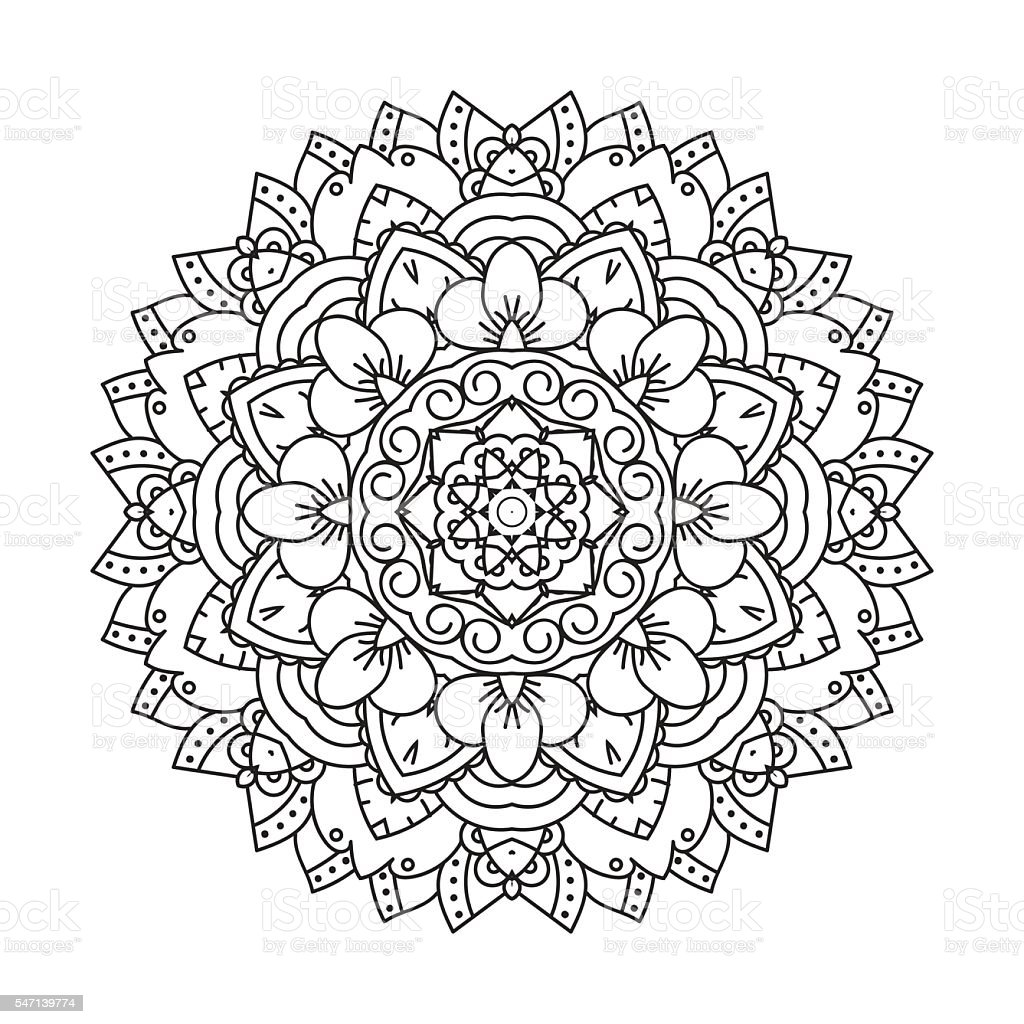 Mandala Design Element Stock Illustration