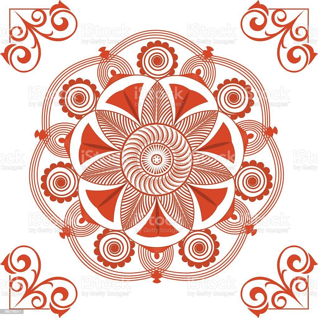 만다라 디자인 요소 royalty-free 만다라 디자인 요소 꽃무늬에 대한 스톡 벡터 아트 및 기타 이미지