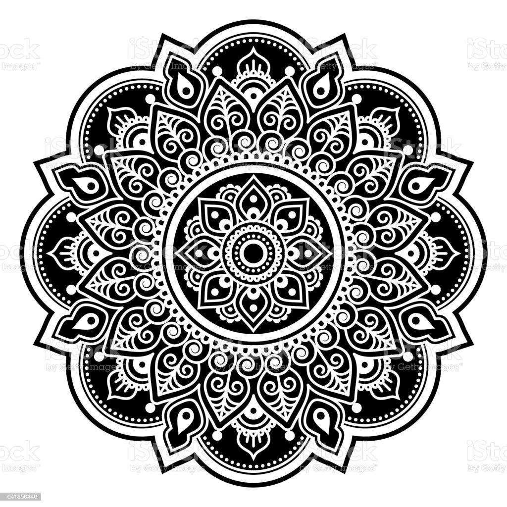 Mandala Design Mehndi Indian Henna Tattoo Round Pattern Or