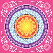 Illustration of Mandala background, All elements is individual objects. No transparencies. Hi res jpeg included. User can edit easily, all layers are separate, Please view my profile.