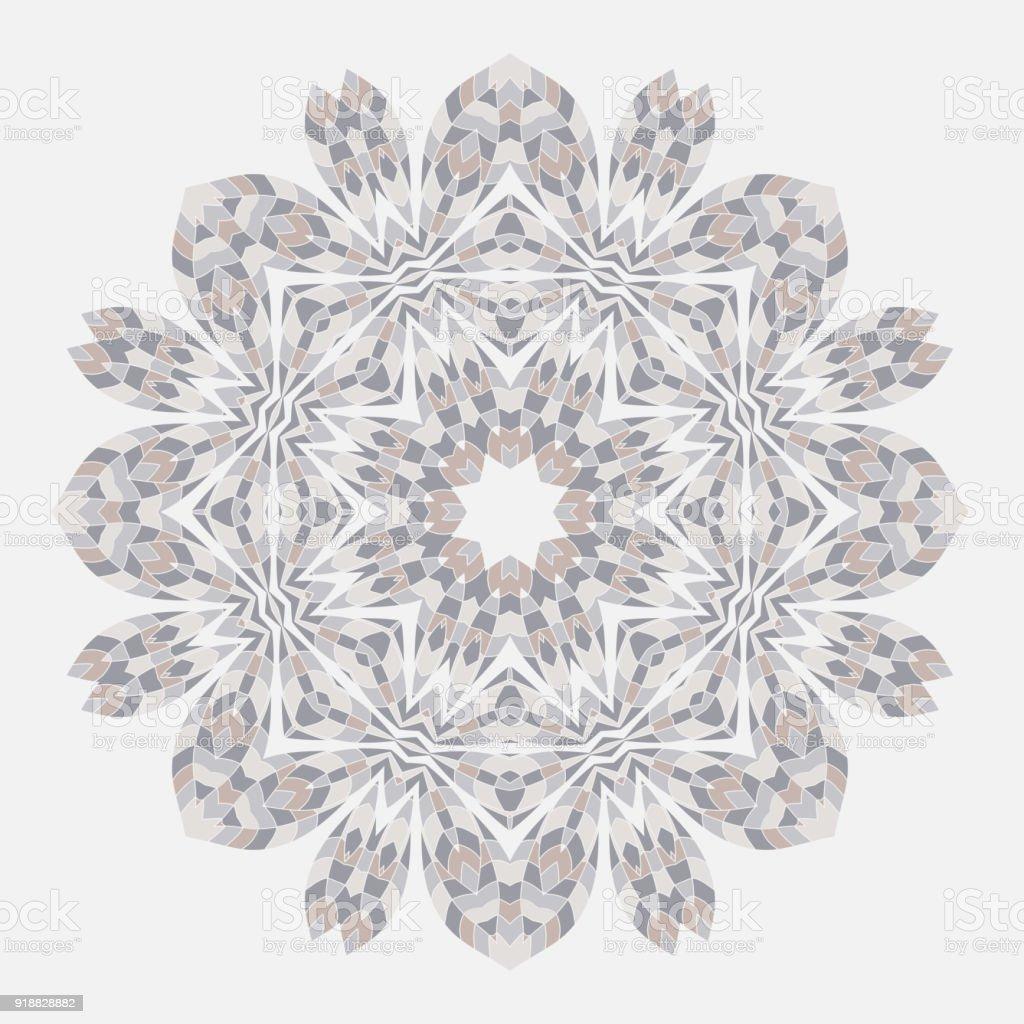 Ilustración de Mandala Grupo étnico Ronda Ornamento Estilo étnico ...