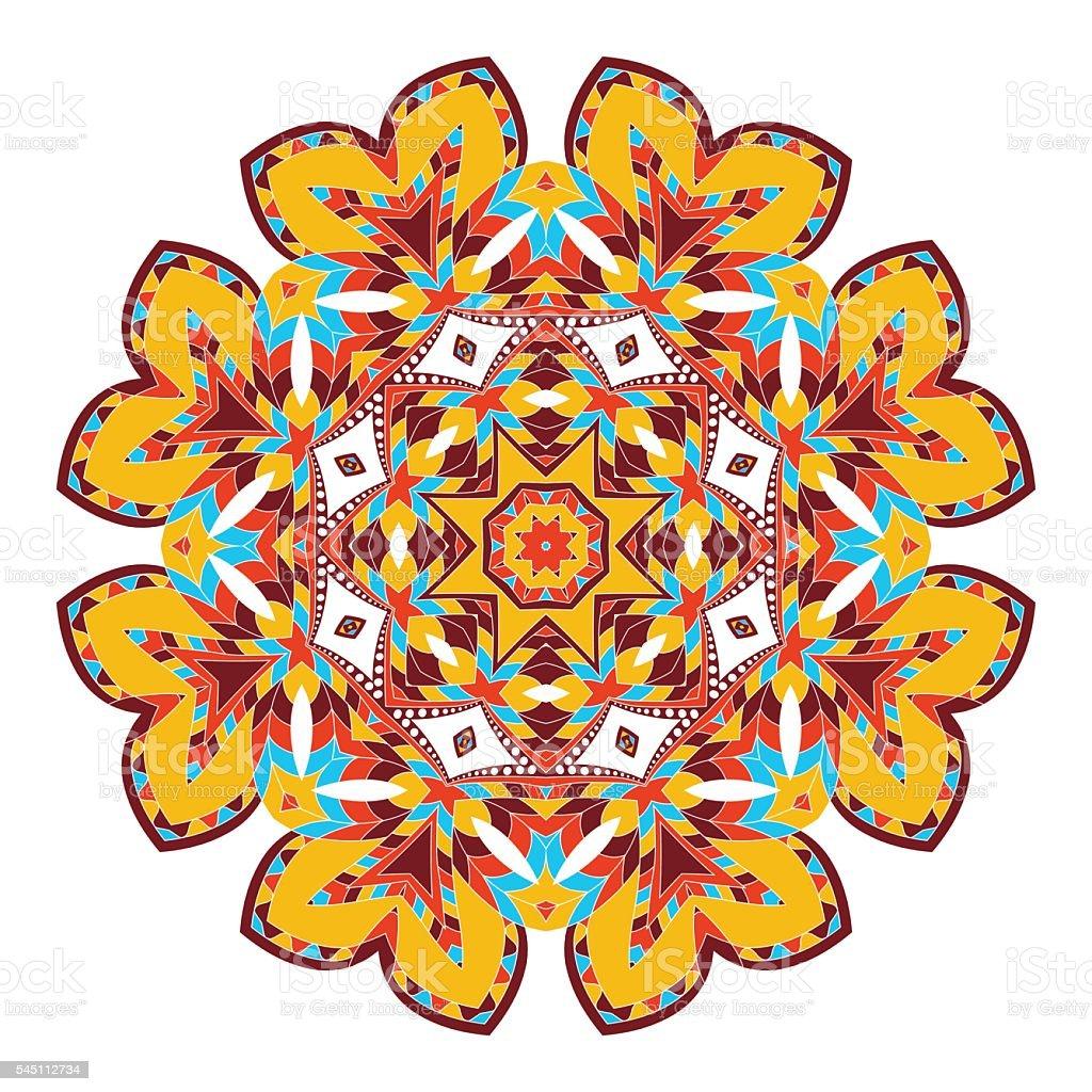 Ilustración De Mandala Origen étnico Redondo Ornament étnica Estilo