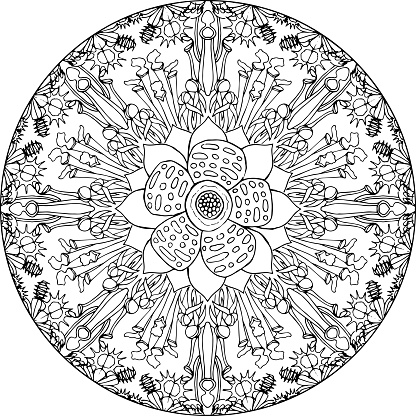 Mandala Flesh Eating Flowers