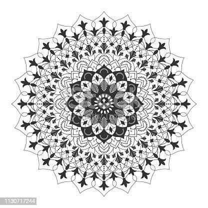 Mandala Fleur De Lys Stock Vector Art More Images Of Abstract