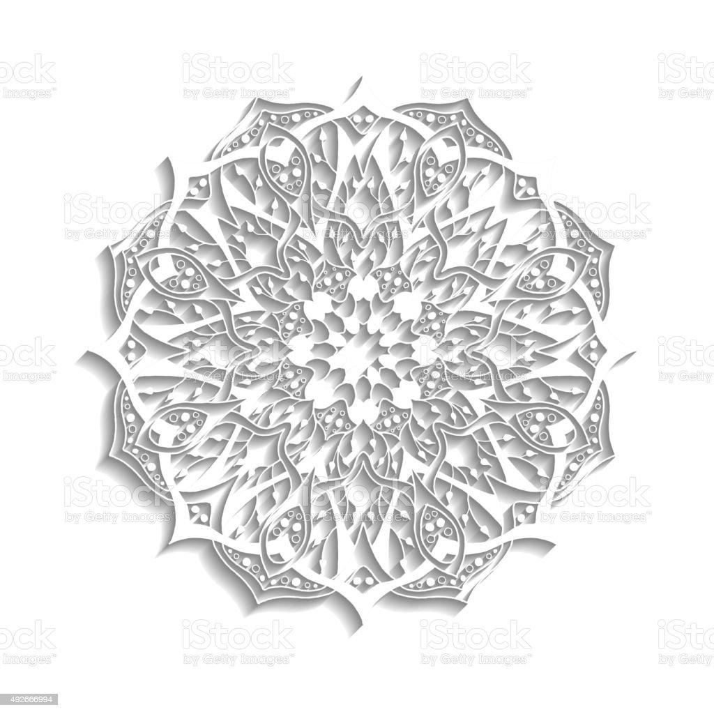 Mandala Floral Abstracto Elementos Decorativos étnico Illustracion ...