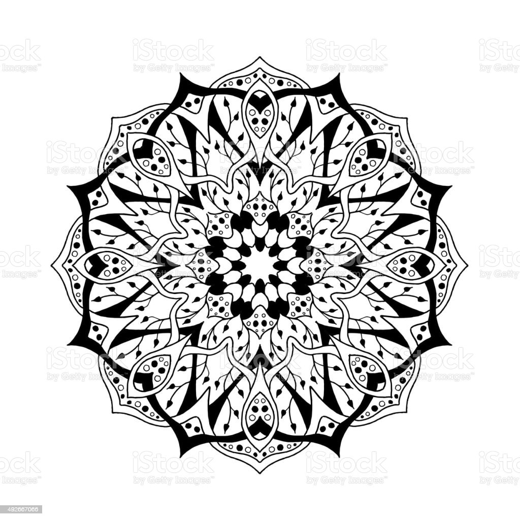Mandala Floral Ethnic Abstract Decorative Elements Stock Vector Art ...