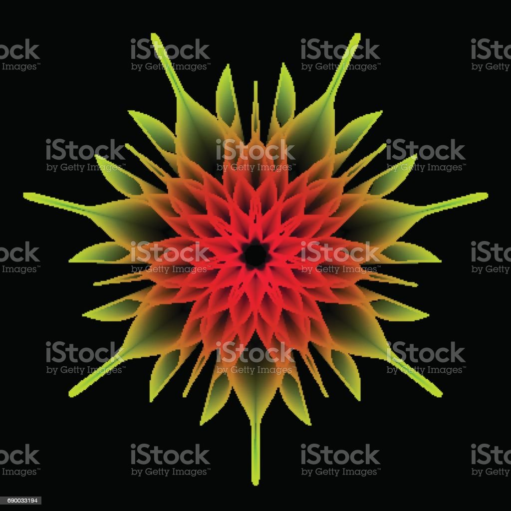 Mandala Flower, Sacred Geometry. Abstract psychedelic vector background. vector art illustration