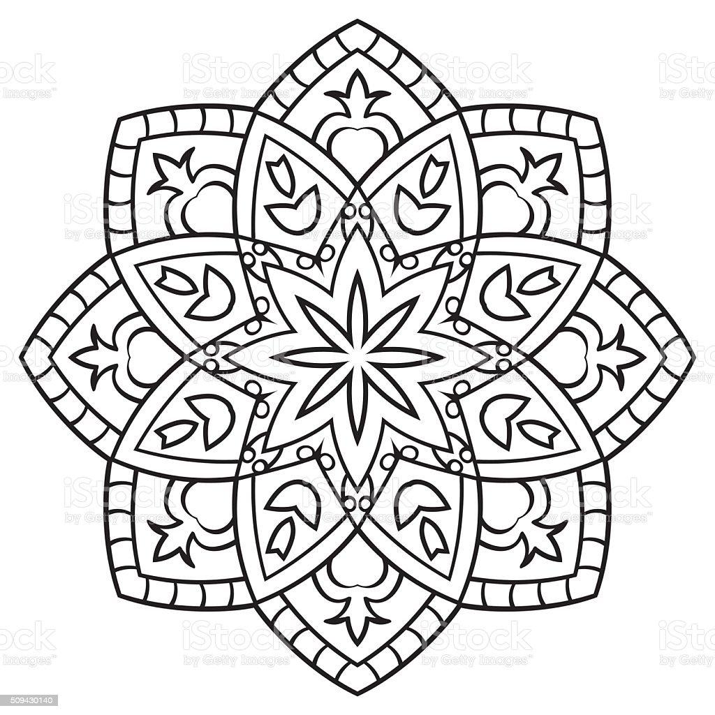Mandala Para Colorear Libro - Arte vectorial de stock y más imágenes ...