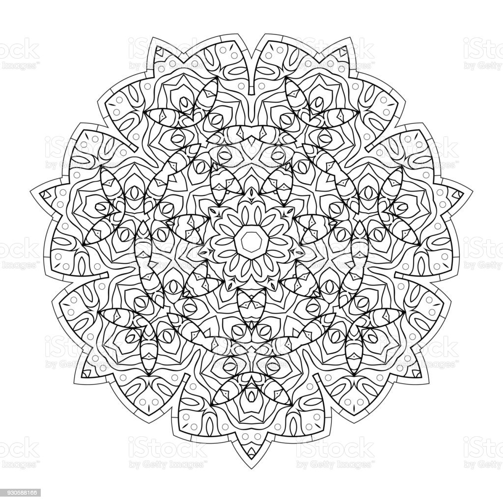 Mandala For Coloring Book Stock Illustration Download Image Now