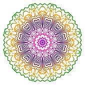 Mandala. For Fashion Design. Vector Illustration. Rainbow color